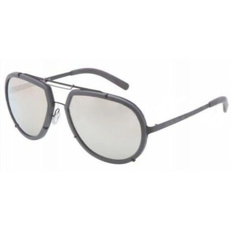 Dolce & Gabbana 2132 Lifestyle Matte Black Frame/Light Brown Mirror Gold Lens Metal Sunglasses