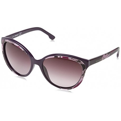 Diesel - Lunette de soleil DL0009 Wayfarer - Dark Violet with Rose Pattern / Gradient Wine Red