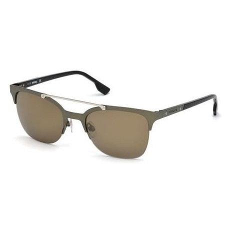 Lunettes de soleil Diesel DL0215 C54 97G (matte dark green / brown mirror)