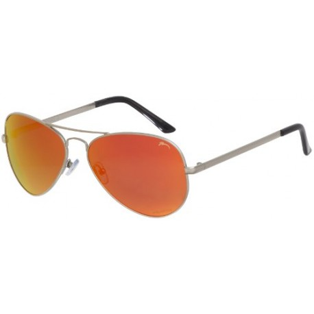 Lunettes de soleil Femme Homme Unisex Drago RELAX POLARISED/R2290-91 (Medium, Silver / Orange Revo Mirror POLARISED R2290B)