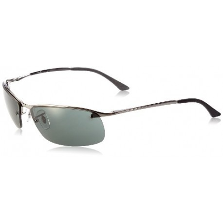 Ray-Ban - Lunette de soleil RB3183 Top Bar Rectangulaire, Grey (004/71 Gunmetal)