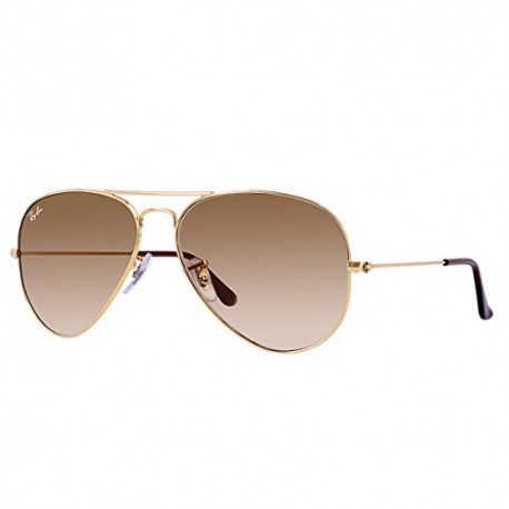 Ray-Ban - Lunette de soleil RB3025 Aviator Large Metal Aviator, Brown