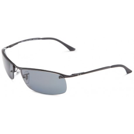 Ray-Ban - Lunette de soleil RB3183P Top Bar Rectangulaire - Black (002/81 Black) - 63 mm