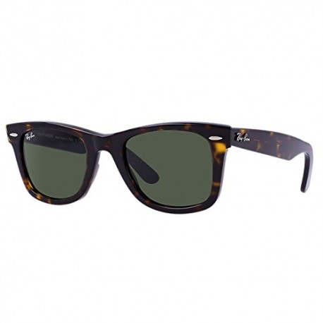 Ray-Ban - Lunette de soleil RB 2140 Wayfarer Original Wayfarer 50 mm, Matte grey/Crystal green gradient, 50 mm